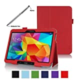 ProCase Samsung Galaxy Tab 4 10.1 Tablet Case with bonus stylus pen - Bi-Fold Stand Cover Case for 10 inch Galaxy... by ProCase