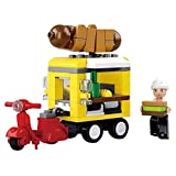 Sluban SlubanM38-B0565 Hot Dog Dining Car Building Bricks Set