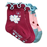 BabyLegs Tea Cups Baby/Toddler Socks size 2-4T Pink/Teal/Blue 2 Pack