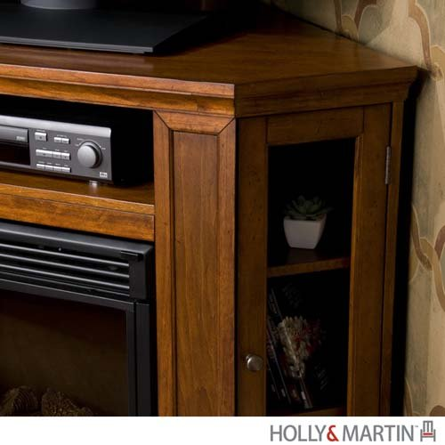 "Ponoma Mahogany Convertible Media Electric Fireplace (Brown Mahogany) (32.25""H x 48""W x 15.75""D)"