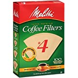 Melitta # 4 Cone Coffee Filters Natural Brown #4, 100 Count