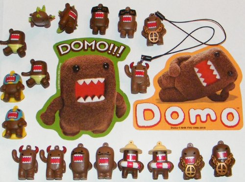 Domo Figure Party Favors Decorations Set of 20 Fun Figurines, Danglers and Stickers (Domo Party Supplies compare prices)