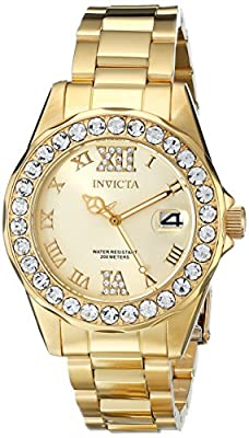 "Invicta Women's 15252SYB ""Pro Diver"" Gold-Tone Stainless Steel Watch with Link Bracelet"