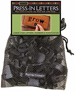 """Poetry Stones Press-in Letters 1""""-1.5"""" 42/pkg-traditional Lowercase"""