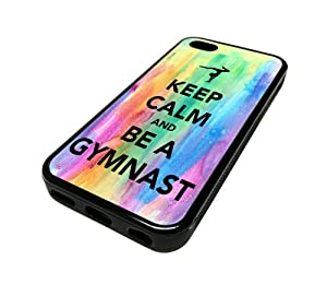 Apple iPhone 5C 5 C Case Cover Skin Hipster Keep Calm Be A Gymnastics