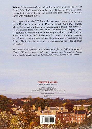 Robert Prizeman: Songs of Praise Toccata for Organ