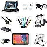 17 teiliges Samsung Galaxy Tab Pro & Galaxy Note Pro | 12,2 Zoll | Zubehör Set | T9000 P900 P905