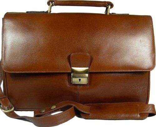 New Mens Visconti medium size Tuscan brown leather business briefcase organiser bag Style 18074