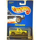 1991 - Mattel - Hot Wheels - Path Beater - Ecology Center Truck - Neon Yellow - 1:64 Scale Die Cast