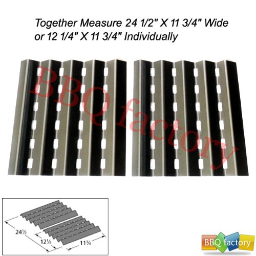 90252 Stainless Steel Heat plate/Shield Replacement for Select Brinkmann Gas Grill Models, Set of 2