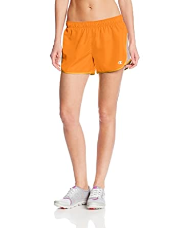 Champion Women's Sport Short III, Clementine/Sun/White, X-Small