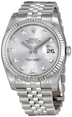 Rolex Datejust Rhodium Diamond Dial 18kt White