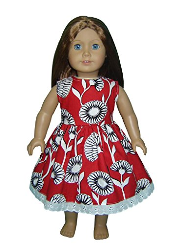 "Glamerup Collection: Lucienne - 18"" Doll Dress In Red, Lace"