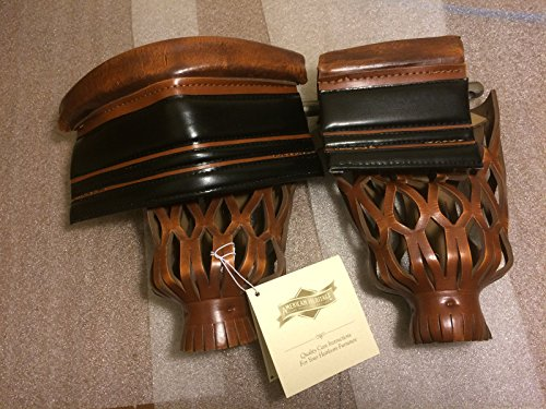 Great Features Of Set of (6) AMERICAN HERITAGE LEATHER BILLIARD POOL TABLE REPLACEMENT POCKETS SHIEL...