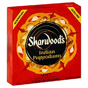 Sharwood Puppodums Spicy 4-ounce Packages Pack Of 12 from Sharwood
