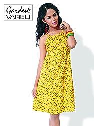 Garden Vareli Womens Cotton Column Dress (Gardenvareli Western Dress 1028-B _Green _Large)