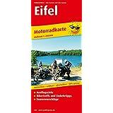 Motorradkarte Eifel: Mit Tourenvorschlägen, Ausflugszielen, Einkehr- und Freizeittipps, reissfest, wetterfest, GPS-genau, 1:200000