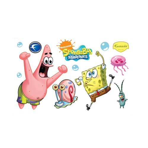 SpongeBob and Patrick Wall Decal Fathead Wall Stickers & Murals autotags B002QW3J7Q