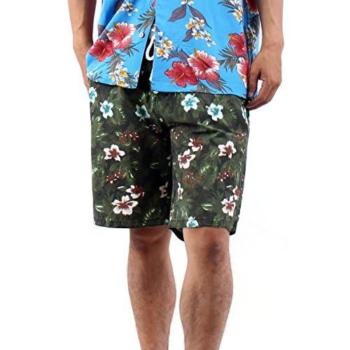 (ラフタス)Rafftas 総柄 スイムウェア 水着 L サイズ 花柄 レッド 夏 パンツ メンズ men's