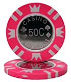 50 $.50 Coin Inlay Clay Poker Chips