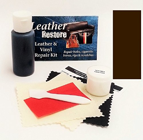 Air Dry Leather & Vinyl Repair Kit VERY DARK BROWN Color Repair Restore Couch Car Jacket Furniture Shoes Purse (Vinyl Sofa Paint compare prices)