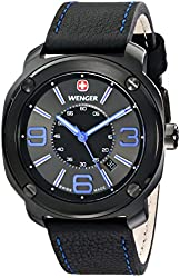 Wenger Men's 01.1051.105 Escort Analog Display Swiss Quartz Black Watch
