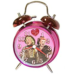I Love Lucy Twin Bell Analog Alarm Clock by MZ Berger and Co