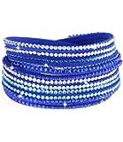 caripe Damen Armband Wickelarmband Glitzer Steine viele Designs + Farben - strala