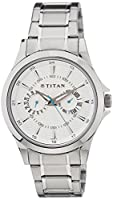 Titan Analog White Dial Men's Watch - NE9323SM01A