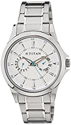 Titan Analog White Dial Mens Watch - NE9323SM01A