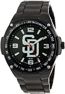 Game Time Unisex MLB-WAR-SD Warrior San Diego Padres Analog 3-Hand Watch by Game Time