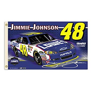 NASCAR Jimmie Johnson 2-Sided 3-by-5 Foot Flag W Grommets by BSI