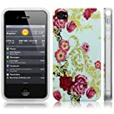 iPhone 4S / iPhone 4 Vintage Floral Flourish Print Multicoloured Hard Back Cover / Case / Shell / Shield -by CallCandy