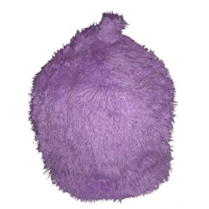 Faux Fur Lilac Mongolian Bean Bag