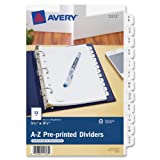 Avery Mini Preprinted Dividers with A-Z Tabs, 5.5 x 8.5-Inches, 12-Tab Set (11313)