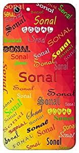 Sonal (Popular Girl Name) Name & Sign Printed All over customize & Personalized!! Protective back cover for your Smart Phone : Moto E-2 ( 2nd Gen )