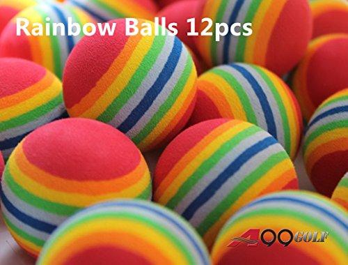 A99 Golf Rainbow Foam Ball Practice 12 Pcs - Free Shipping
