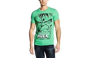 MARVEL Camiseta Manga Corta Angry Hulk Face (Verde)