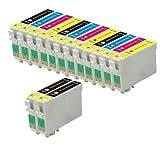 14 Cartouches d'encre d'imprimante (3 séries de 4...