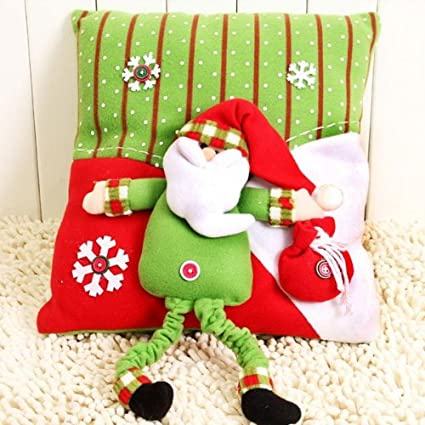 Christmas Decoration Props Sofa Cushion Santa Claus Snowman