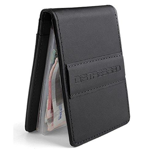 distressed-kreditkartenetui-mit-edelstahl-geldklammer-geldscheinklammer-10-klarsichtfscher-schwarz
