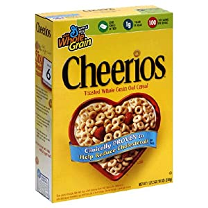 Cheerios Cereal, 18-Ounce Box (Pack of 4)