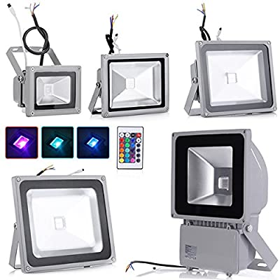 10W 20W 30W 50W 100W RGB LED Flood Lights Remote Control Waterproof LED Floodlight , 16 Colours Changing LED Security Light