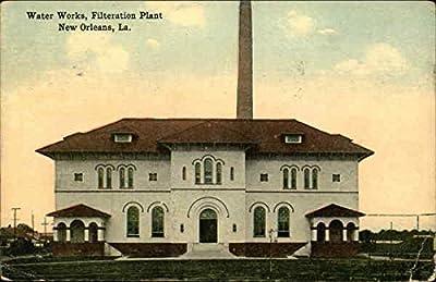 Water Works, Filtration Plant New Orleans, Louisiana Original Vintage Postcard