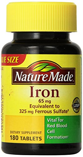 Nature Made Iron 65 mg Tablets 180 ea (Pack of 3) (Iron Supplement Nature Made compare prices)