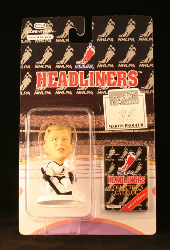 MARTIN BRODEUR / NHLPA SIGNATURE SERIES * 3 INCH * 1996 NHL Headliners Hockey Collector Figure - 1