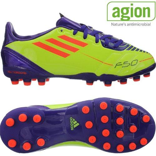 Adidas F10 MG J G51576 Junior Kinder Fußballschuhe Nocken Multinocken Multiground Gelb Lila