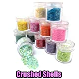 12x Crushed Shells for Nail Art (10g Jar) CODE: #419