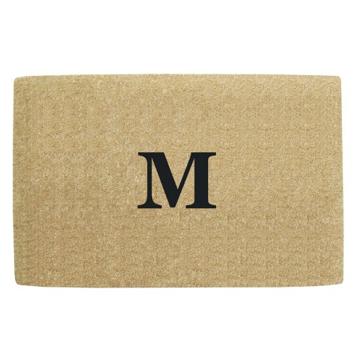 Creative accents heavy duty coco mat with no border 30 by 48 inch monogrammed m home garden - No shoes doormat ...