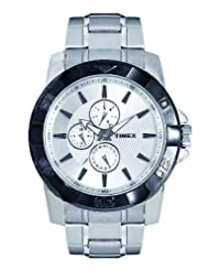 Timex E Class Multi Function  Chronograph Silver Dial Men's Watch TI000S40200